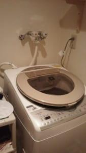 土浦市にて洗濯排水詰まり