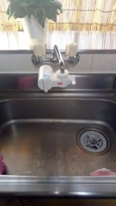 常陸大宮市台所水漏れ