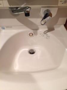鉾田市の洗面排水詰り