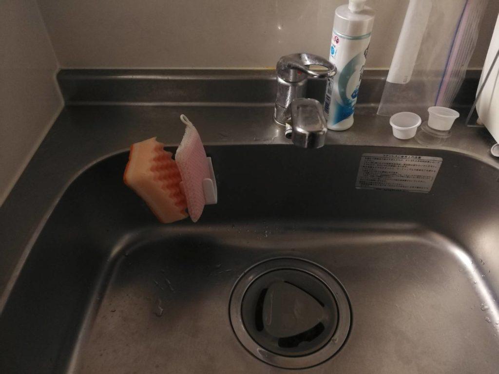 真岡市で台所の排水ホース水漏れ修理をしました。