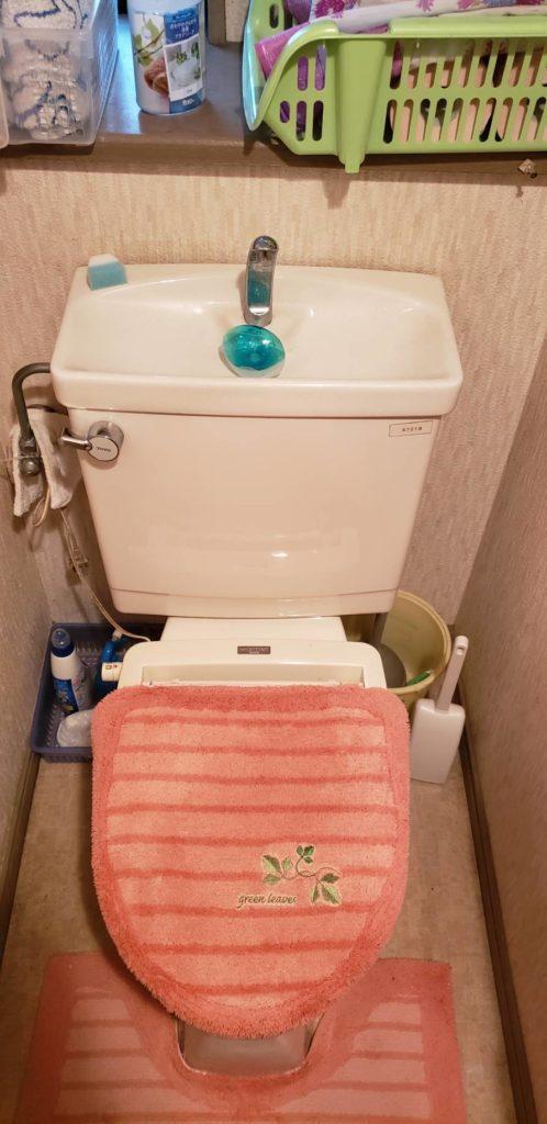 日光市でトイレ水漏れ修理の作業事例