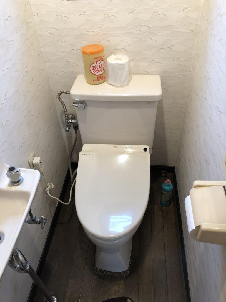 下野市でトイレの水漏れ修理を行いました。
