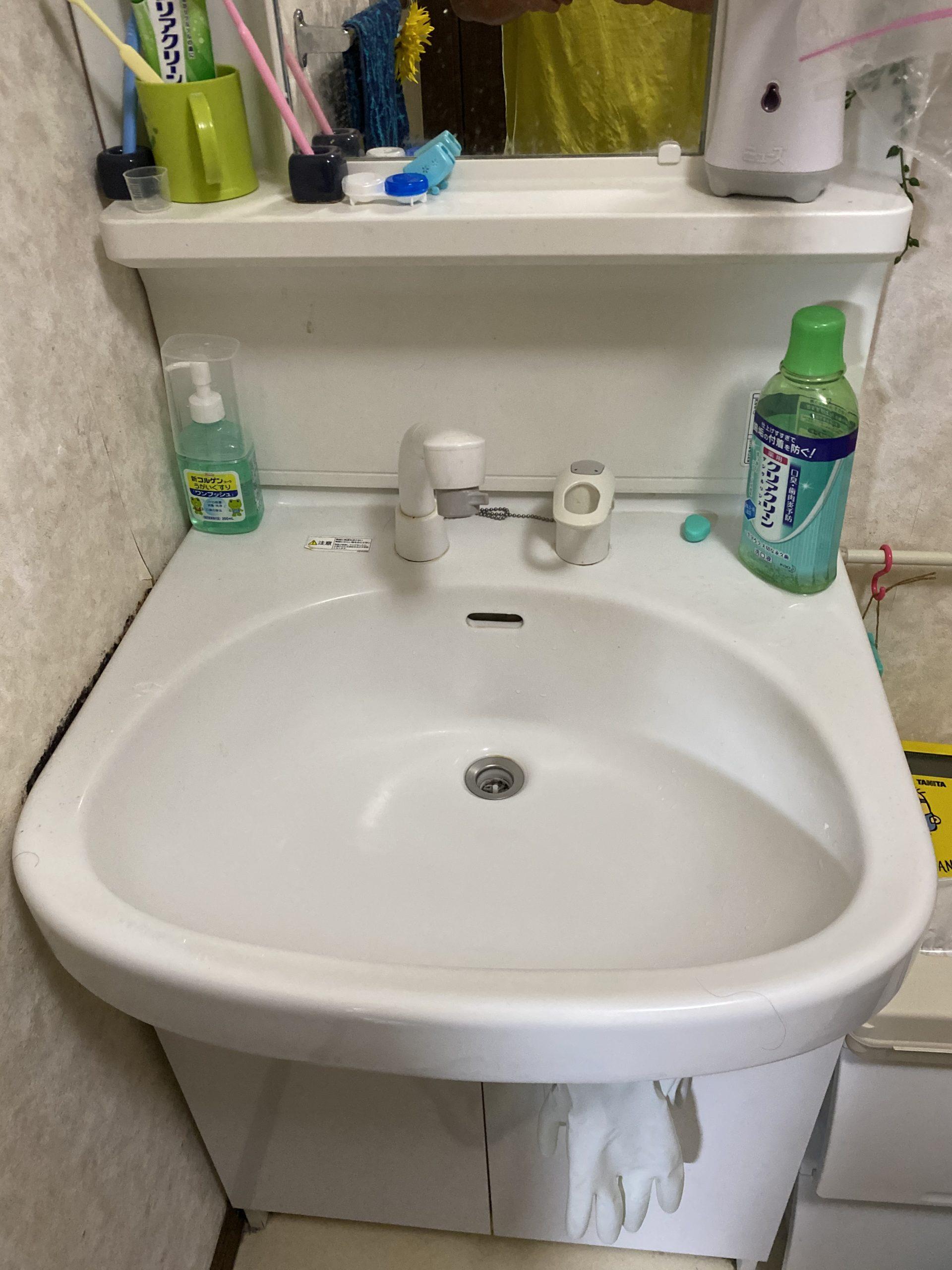 洗面水漏れ