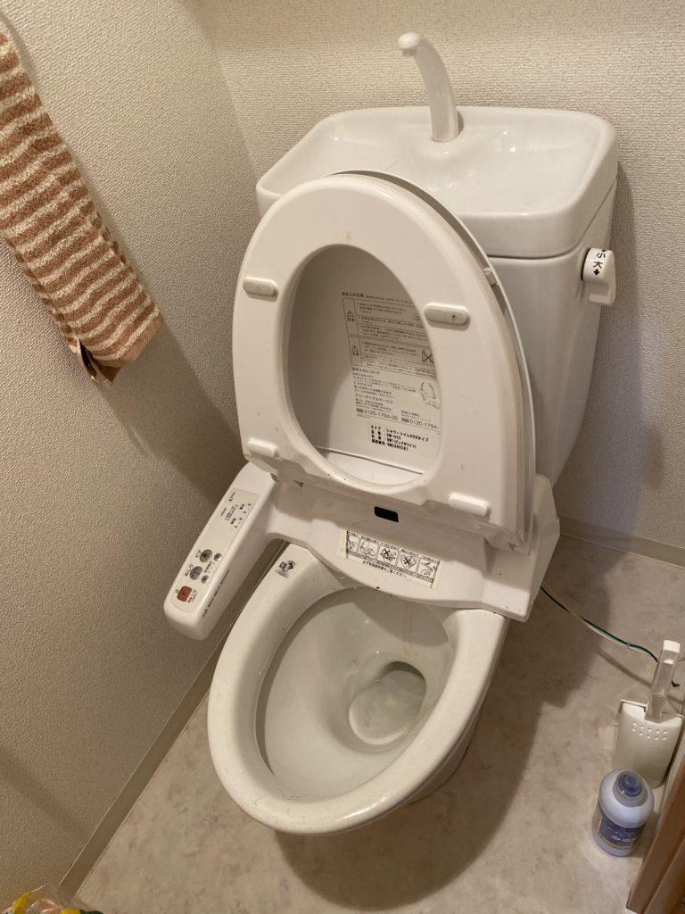 小山市でトイレの水漏れ修理の施工事例