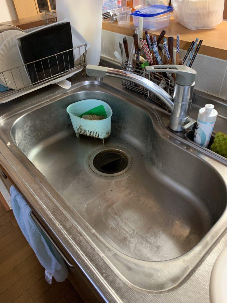 鹿沼市で台所の排水つまりトラブルを解決しました。
