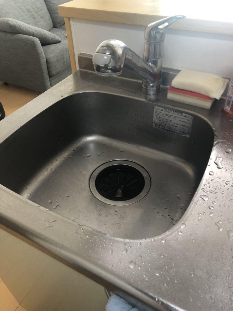 さくら市で台所排水水漏れ修理を行いました。