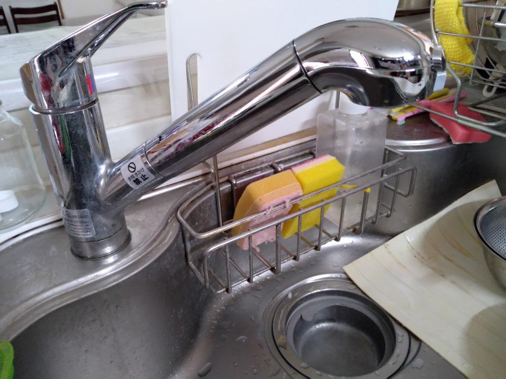 真岡市でキッチンの蛇口水漏れ修理を行いました。