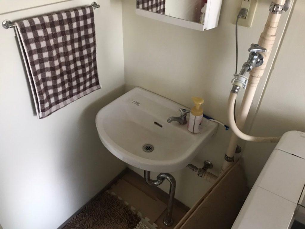 佐野市で洗面の水漏れ修理を行いました。