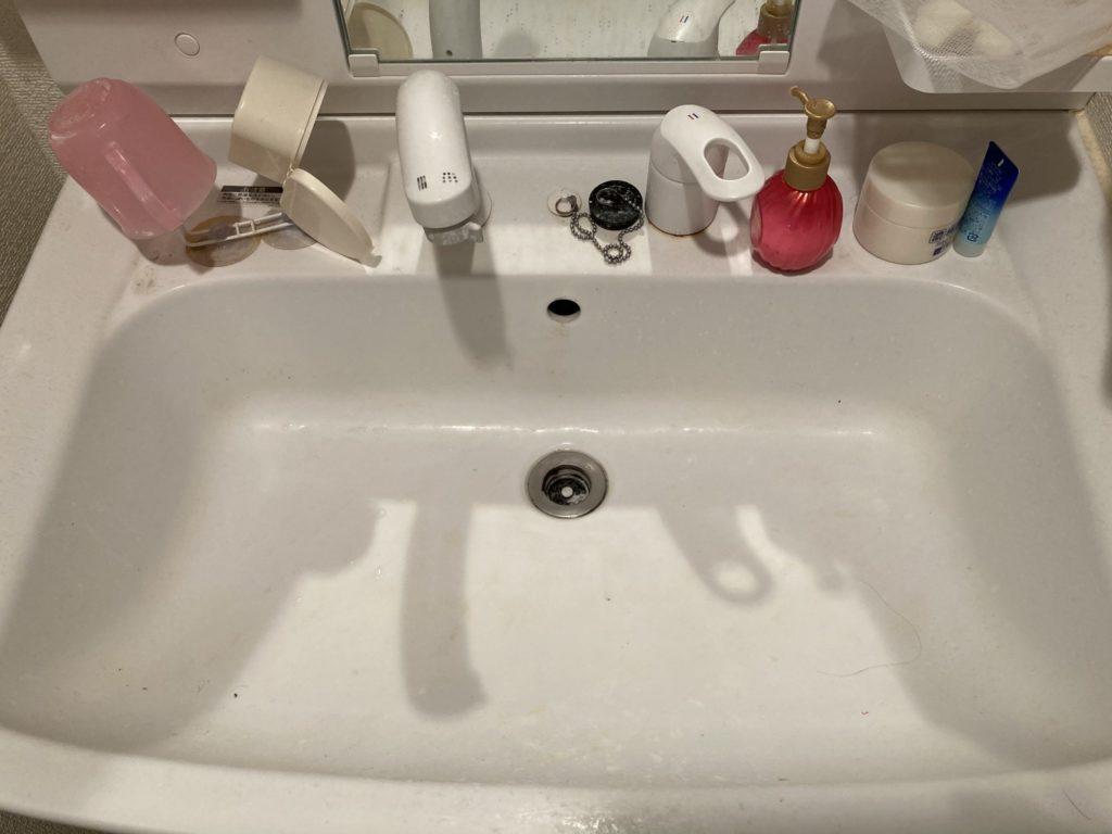 さくら市で洗面所の排水つまりトラブルを解決しました。