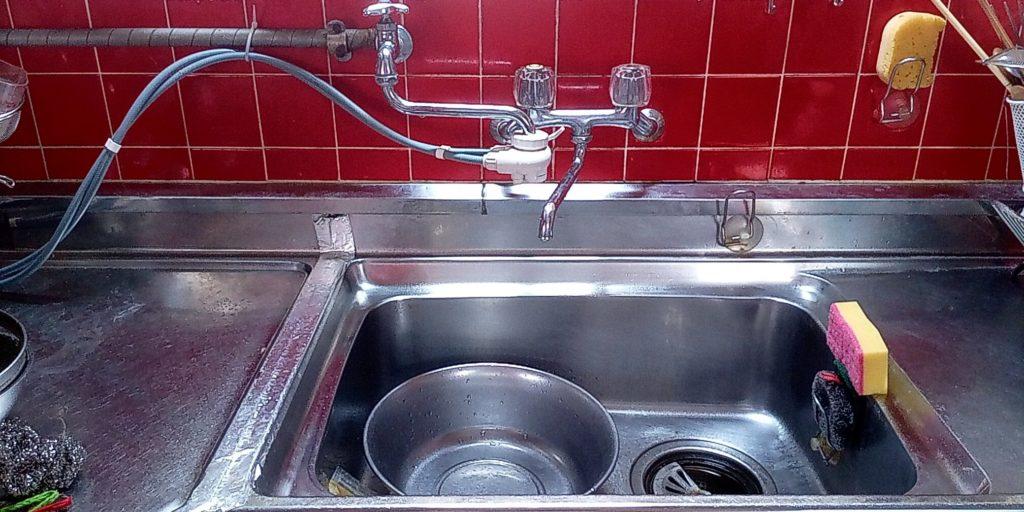 さくら市でキッチンの排水水漏れ修理を行いました。