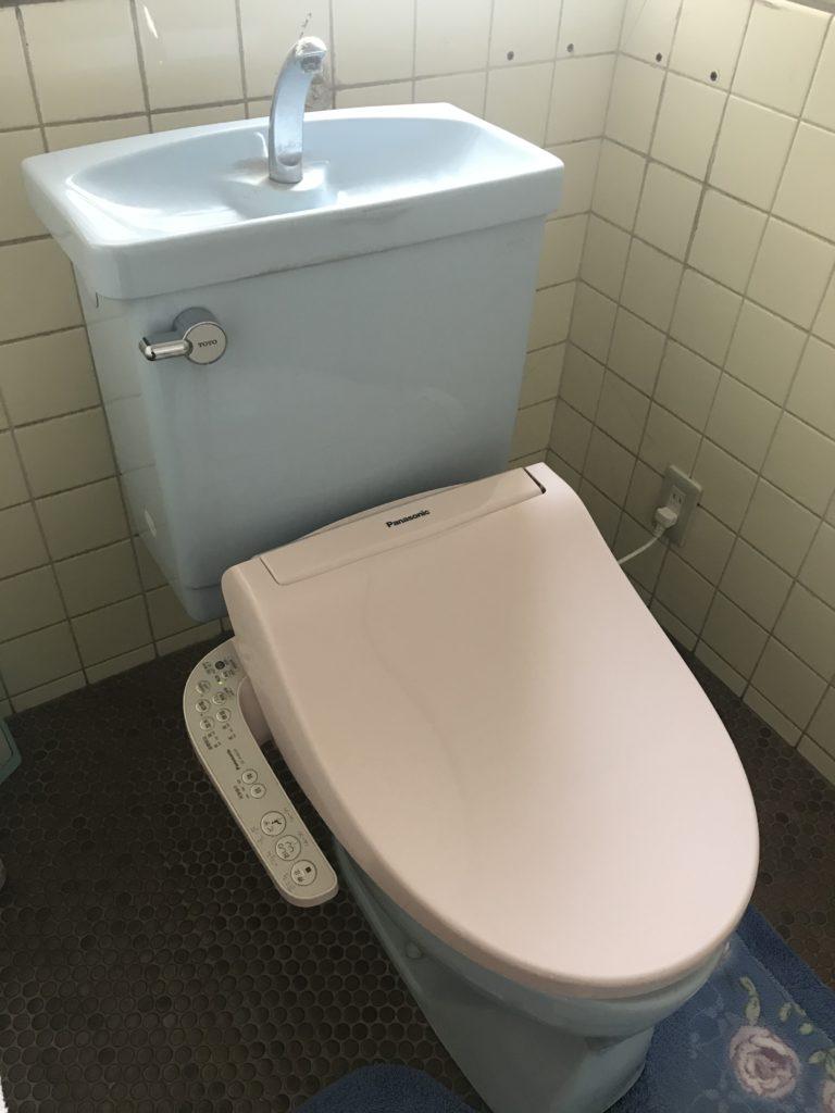鹿沼市でトイレの水漏れ修理をしました。