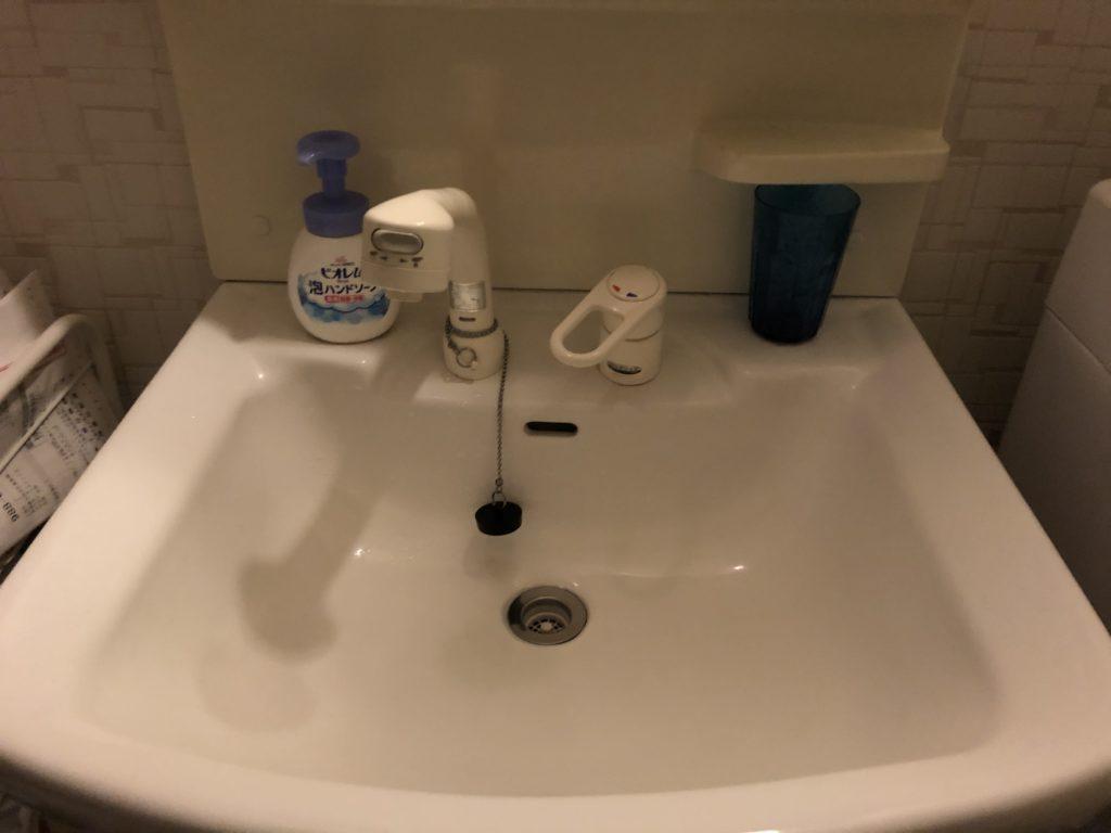 栃木県佐野市で洗面台のシャワー交換作業
