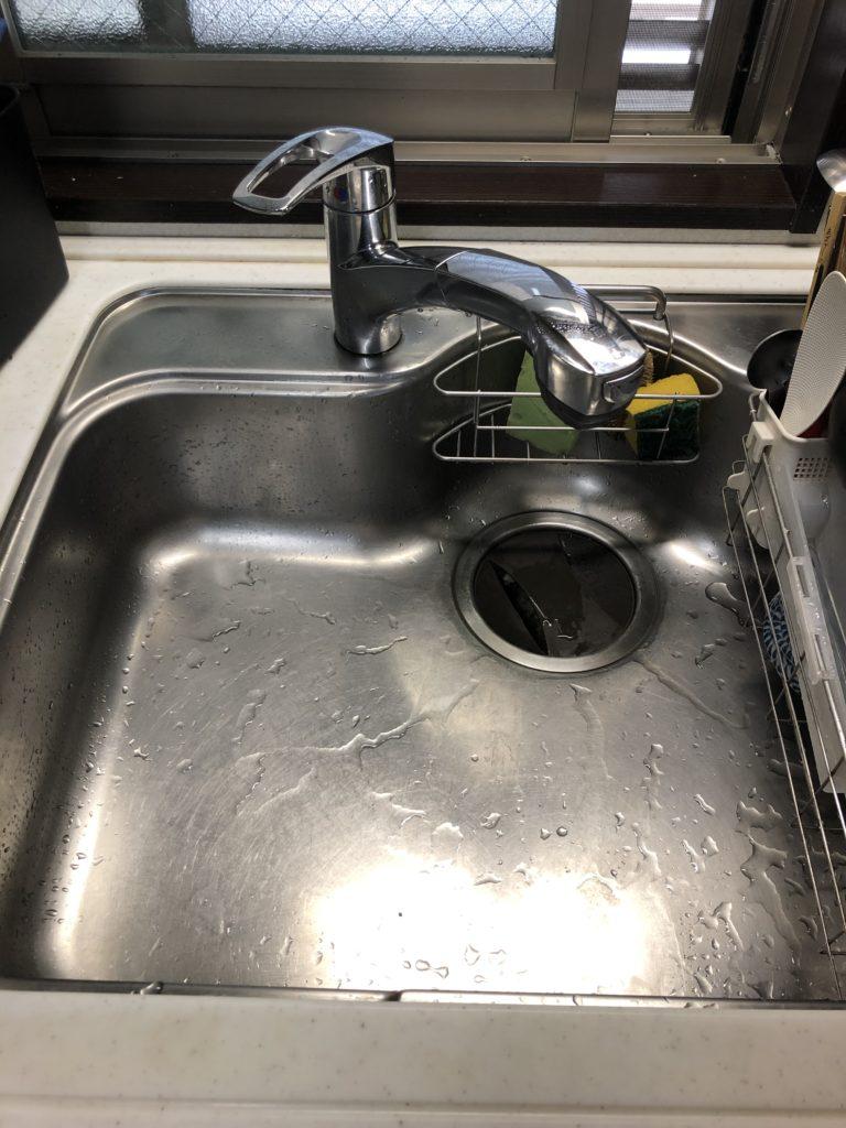 栃木県栃木市の台所排水詰まり解決作業