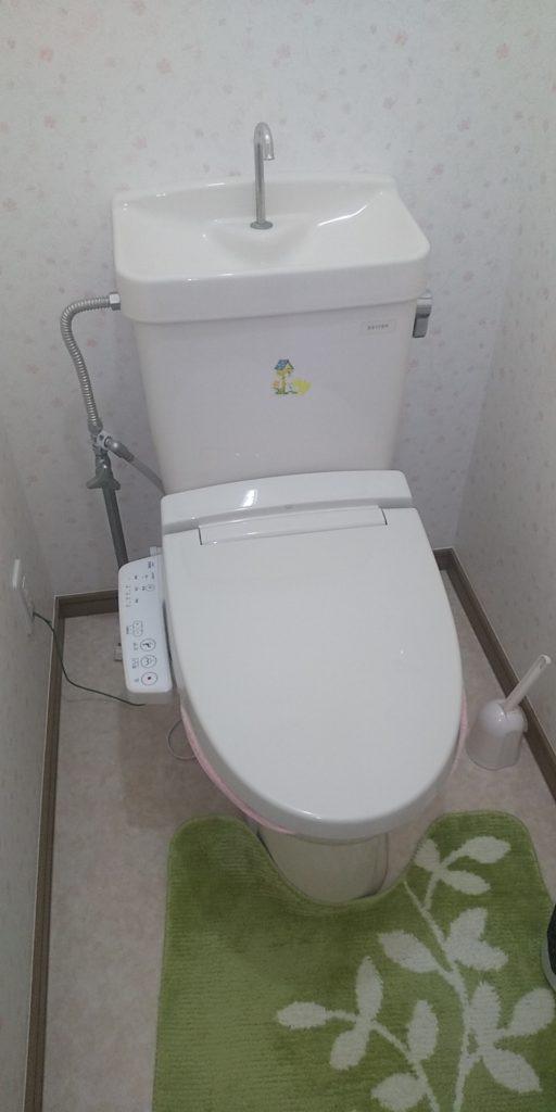 栃木県下野市でトイレの水漏れ修理を行いました。